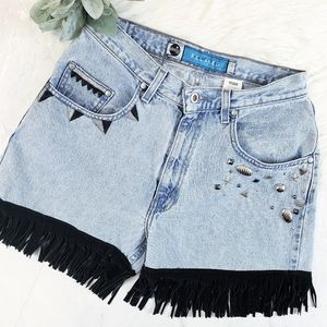 Vintage Upcycled Silver Tab Levi's Mom Shorts